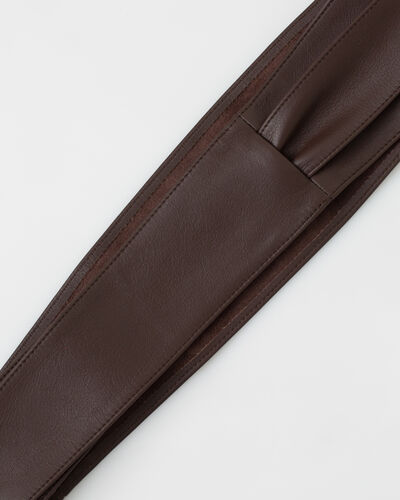 Odile wide brown leather belt (2) - 1-2-3
