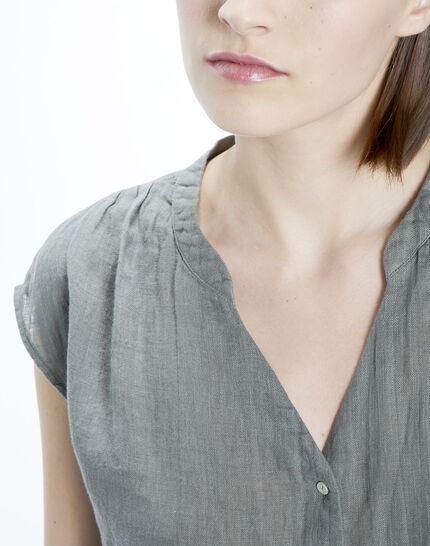 Fiona khaki linen shirt (5) - 1-2-3