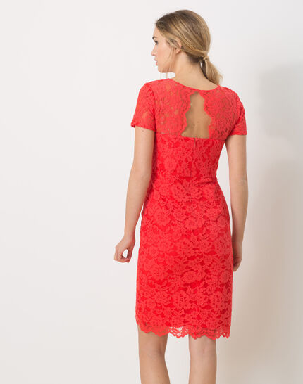 Friandise coral lace dress (3) - 1-2-3
