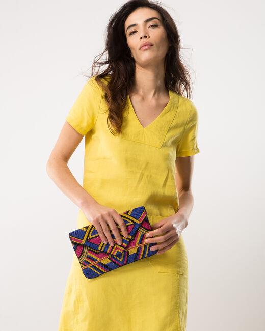 Robe jaune en lin Bisou (2) - 1-2-3