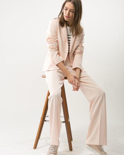 Pantalon de tailleur rose poudre Refrain (1) - 1-2-3