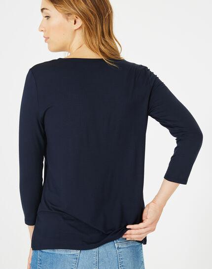 Tee-shirt bleu marine Barbara (4) - 1-2-3