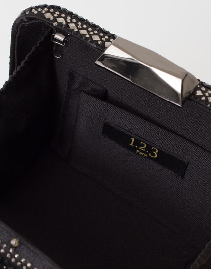 Black diamanté clutch bag (3) - 1-2-3