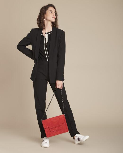 Lara slim-cut tailored black trousers (1) - 1-2-3