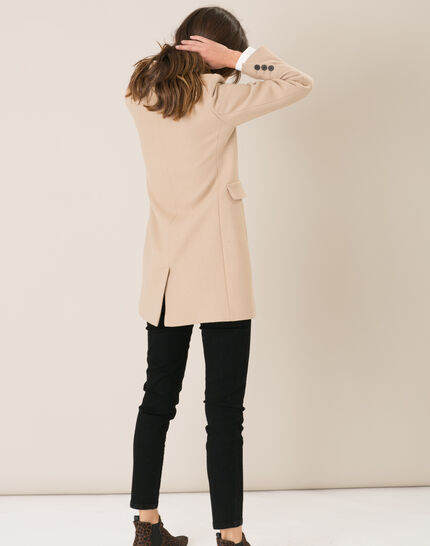 Plume belted camel wool mix coat (3) - 1-2-3