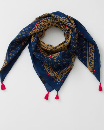 Suzy cotton printed scarf (1) - 1-2-3