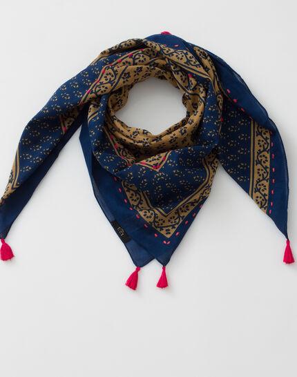 Suzy cotton printed scarf (2) - 1-2-3