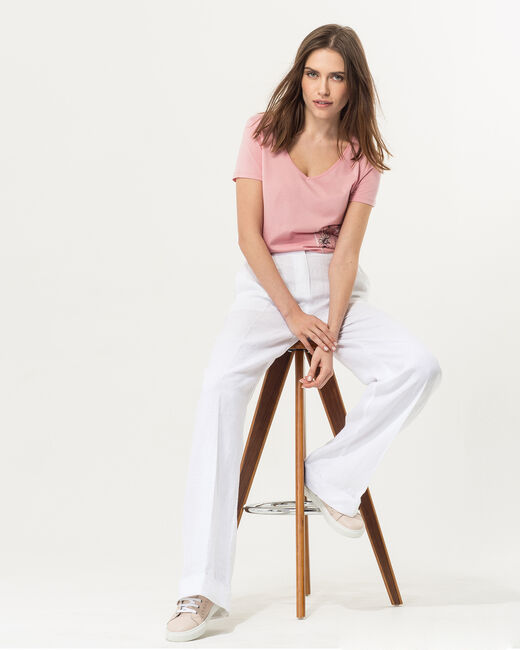 Roller white wide-cut linen trousers (1) - 1-2-3