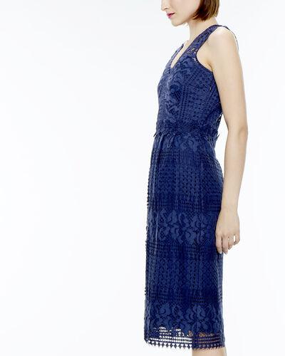 Robe dentelle bleu marine Fauve (1) - 1-2-3