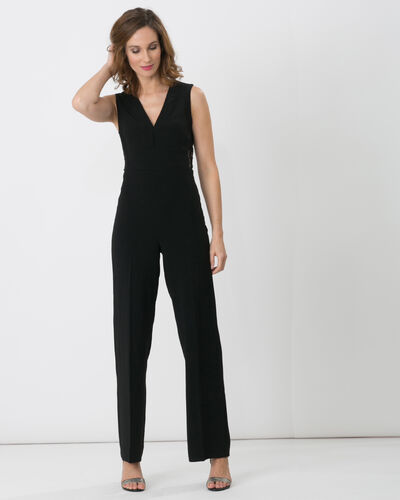 Fame black dual-fabric jumpsuit (2) - 1-2-3