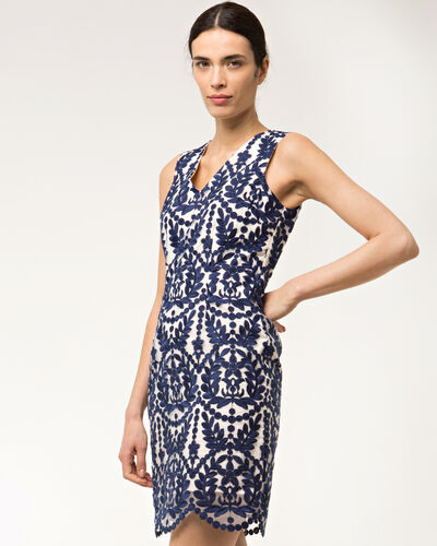 Festival blue embroidered dress (1) - 1-2-3