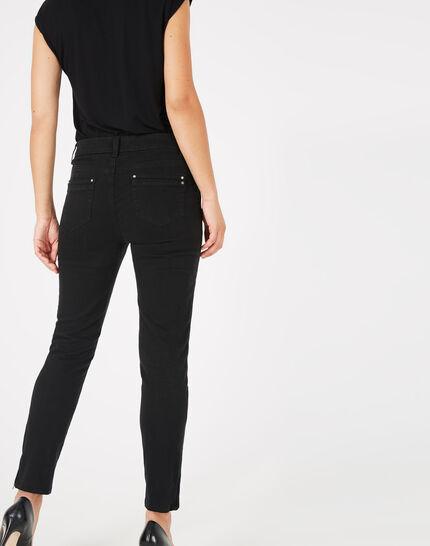 Pia black 7/8 length satin trousers (3) - 1-2-3