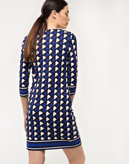 Delila graphic blue dress (3) - 1-2-3