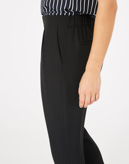 Daria black crepe trousers (2) - 1-2-3