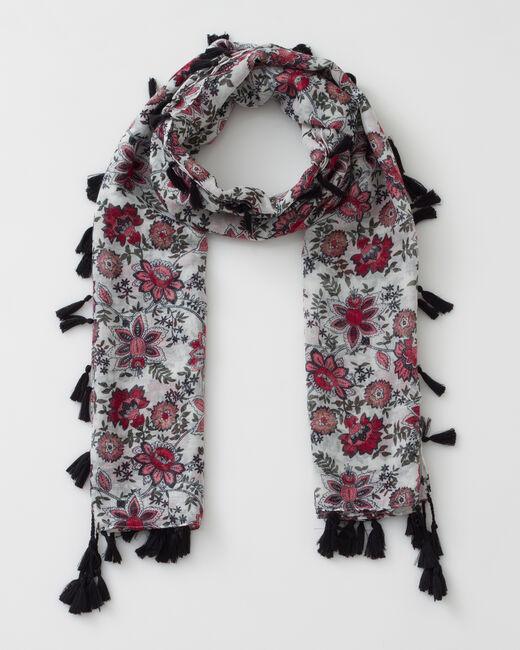 Salvia floral print scarf (1) - 1-2-3