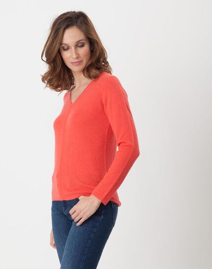 Heart orangey cashmere sweater (3) - 1-2-3