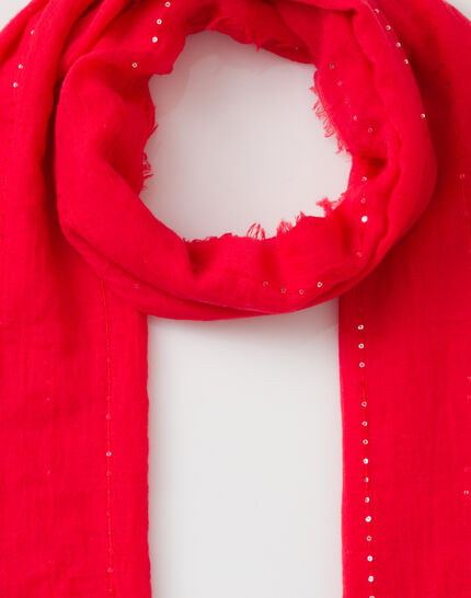 Safir sequined coral stole PhotoZ | 1-2-3