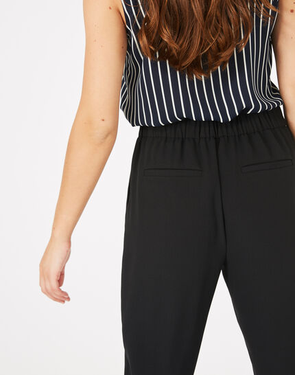 Daria black crepe trousers (3) - 1-2-3