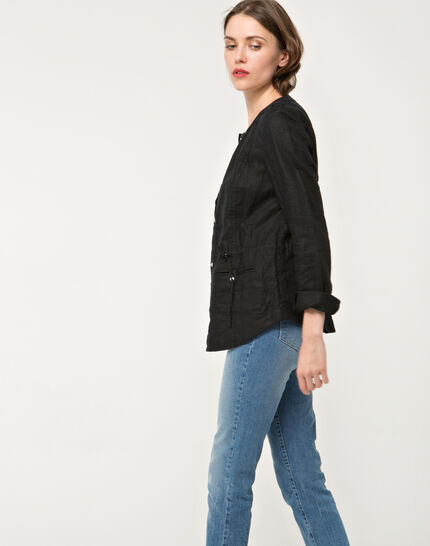 Umbria black linen jacket (5) - 1-2-3