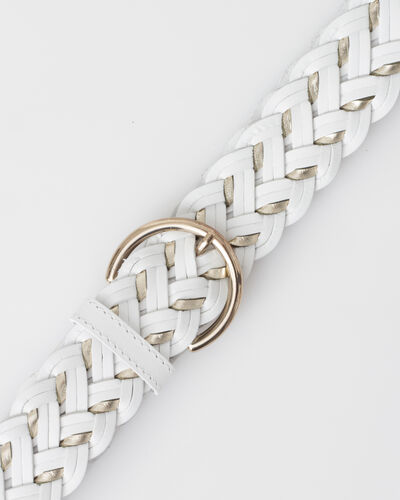 Yoni white braided leather belt (2) - 1-2-3