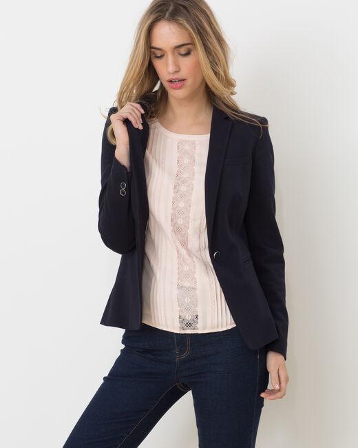 Anita pique navy blue jacket (2) - 1-2-3