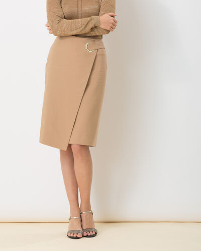 Diana beige wrapover-style skirt (1) - 1-2-3
