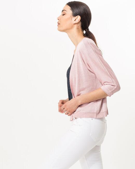Veste rose pâle en maille Hirondelle (1) - 1-2-3