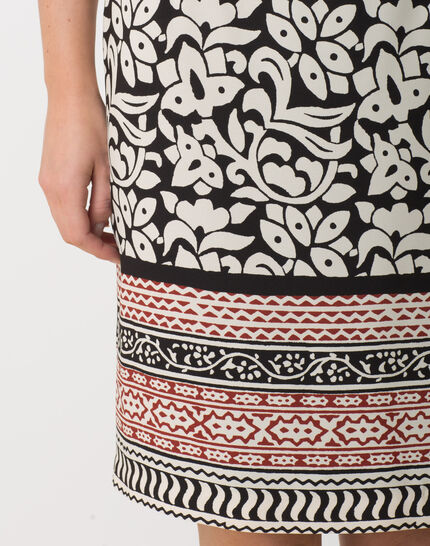 Dylane black and white printed skirt (5) - 1-2-3