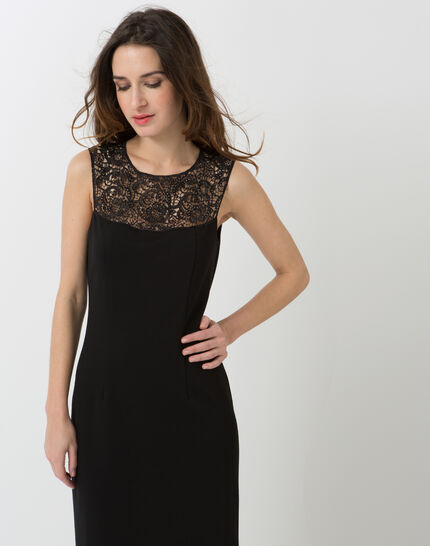 Calypso black dress with Swarovski-embellished neckline (1) - 1-2-3