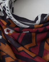 Susanna black printed scarf  black.