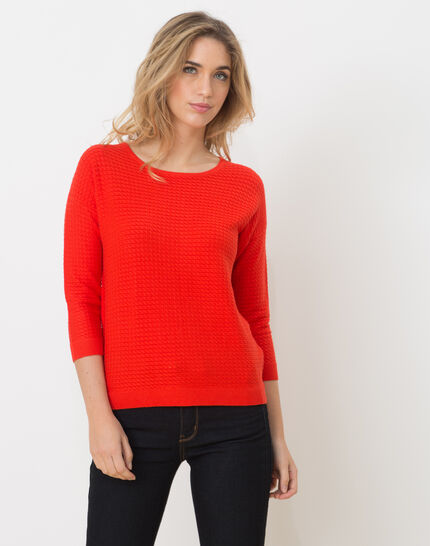 Hélice geranium sweater with long sleeves PhotoZ | 1-2-3