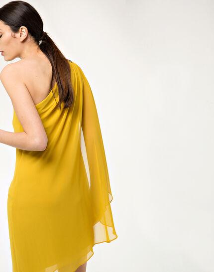 Féline one-shoulder yellow dress (4) - 1-2-3
