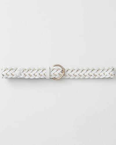Yoni white braided leather belt (1) - 1-2-3