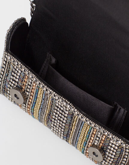 Pamela silver beaded clutch bag (3) - 1-2-3