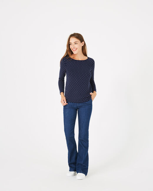 Pastille blue sweater with polka dots (1) - 1-2-3