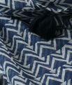 Solal navy blue printed scarf PhotoZ | 1-2-3