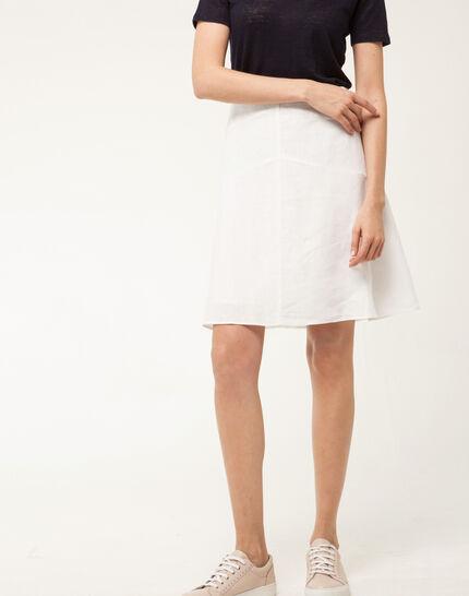 Clairon white linen skirt PhotoZ | 1-2-3