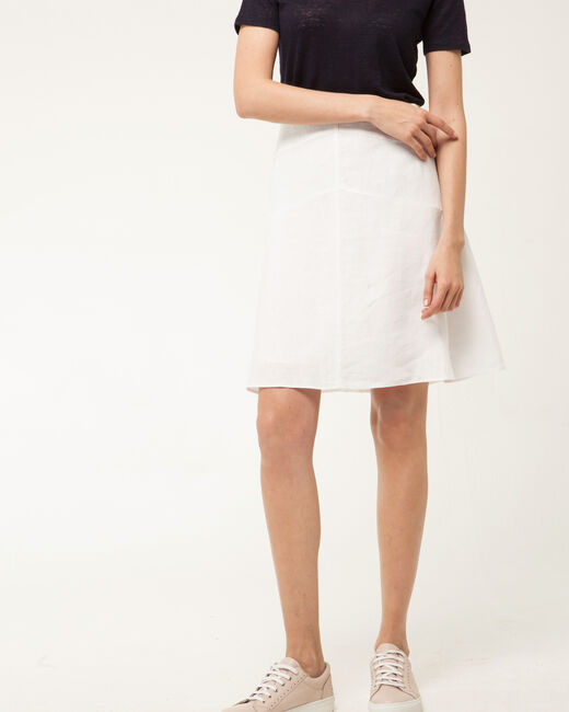 Clairon white linen skirt (2) - 1-2-3