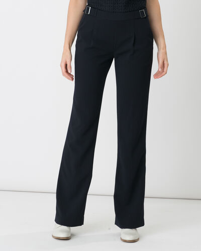 Rythme navy blue trousers with buckle at the belt (1) - 1-2-3