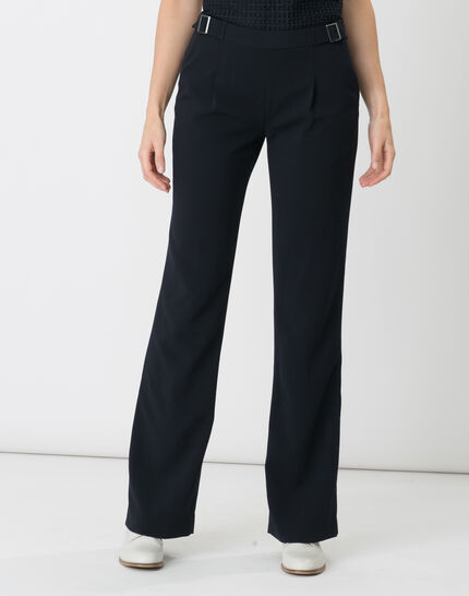 Rythme navy blue trousers with buckle at the belt (2) - 1-2-3