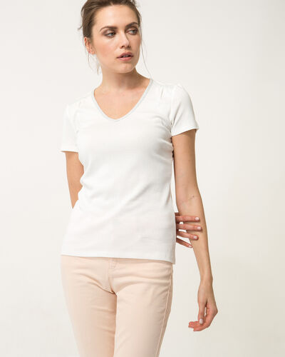 Tee-shirt écru Largo (1) - 1-2-3