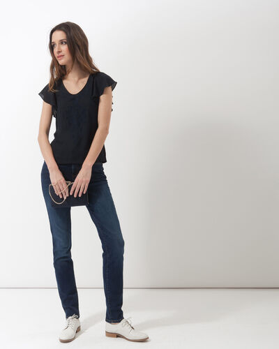 Naim navy blue T-shirt with embroidery (2) - 1-2-3