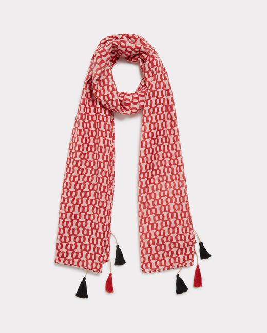 Emilia red printed scarf (1) - 1-2-3