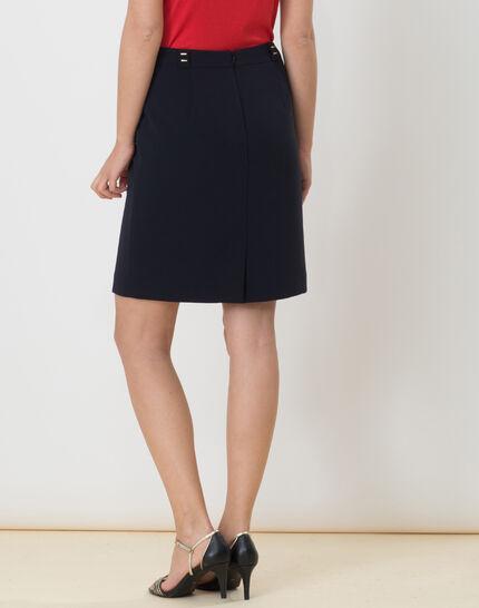 Domino navy blue tailored skirt (5) - 1-2-3