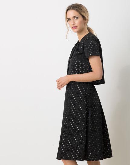 Limoncello black bolero with shiny polka dots (3) - 1-2-3