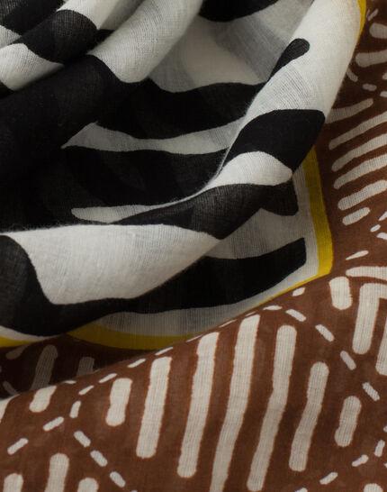 Sauvage animal print scarf in cotton PhotoZ   1-2-3