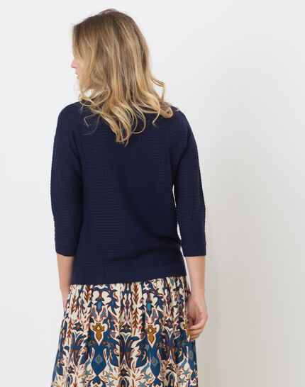 Hélice dark blue sweater with long sleeves (4) - 1-2-3