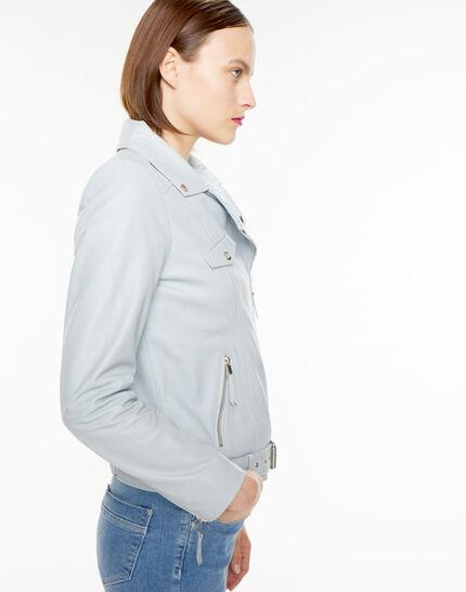 Gabriel blue biker-style leather jacket (3) - 1-2-3