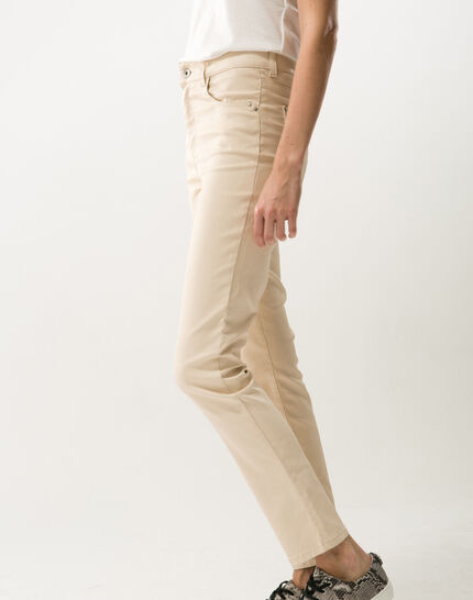 Oliver beige shiny coated 7/8 length trousers (3) - 1-2-3