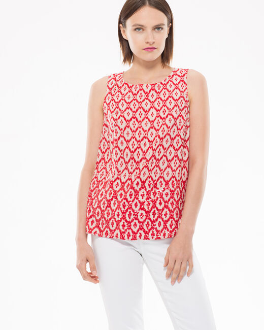 Erwan red printed blouse (1) - 1-2-3